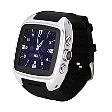 Android Smart Watch X01 IPS Bluetooth Smart Watch WithGPS+3G+WiFi+GPRS Bluetooth Watch For Android Phone (Color:Silver)