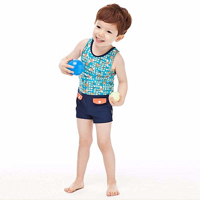 71d3715cf0 ... Child Boy Swimwear One Piece Swimsuit With Swim Cap Kids Boys Bathing  Suit Baby Swim Wear ...