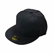 Multi-Color Unisex Plain Snapback Hats Hip-Hop Adjustable Bboy Baseball Cap Gift Black