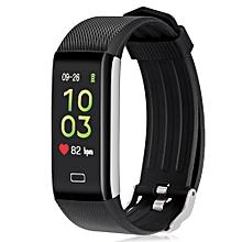 Alfawise B7 Pro Smart Bracelet Heart Rate Sleep Monitor Step Counting Function - BLACK