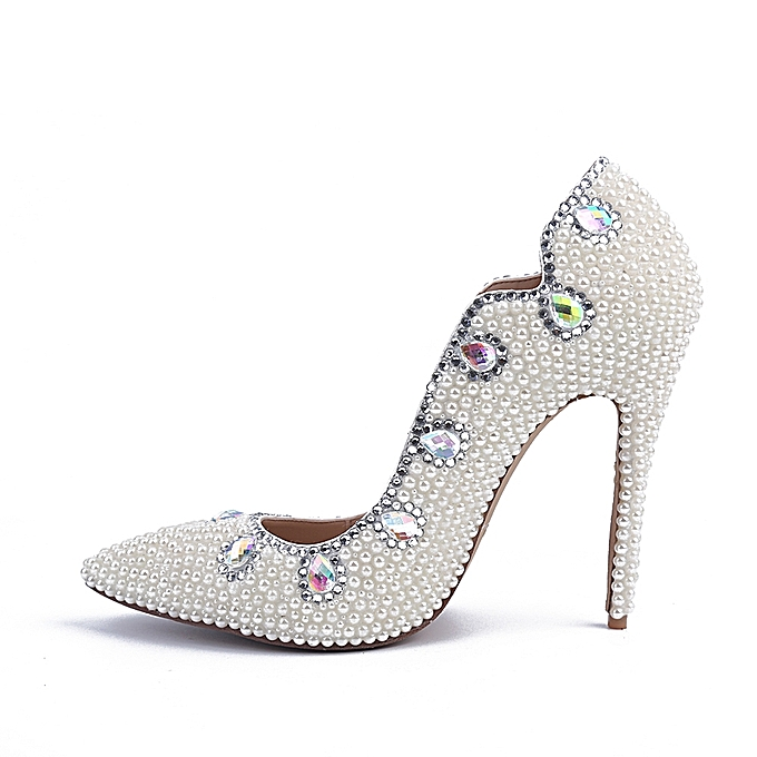0f25cd846adc Generic Pearl High Heel Pointed Shoes Bridal Wedding Pumps   Best ...