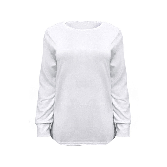 54a2d9d1744 Xingbiaocao Women Solid Color Long Sleeve T-Shirt Blouse Tops White/M -White