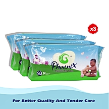 Disposable baby wipes 80 PCS Value Pack (*3)