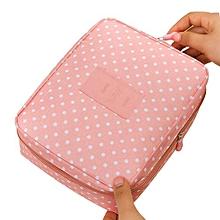 Fohting Women Makeup Bag Cosmetic Bag Case Make Up Organizer Toiletry Storage Bag -F