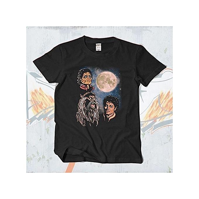 37b4249536d Michael Jackson Thriller Tee Shirt Mens Hi Street Tee Shirt Homme HipHop  O-neck Short