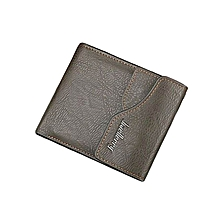 Elegant Executive Men Leather Wallet -Jungle Green/ Brown