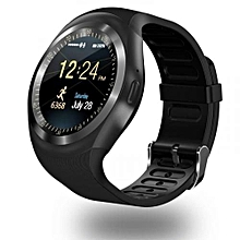 Y1 Fashion Smart Phone With Sim toolkit Touchscreen Watch -(Black)