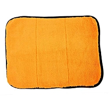 OR New 40cmx29cm Super Thick Plush Microfiber Car Cleaning Cloths Towel Orange