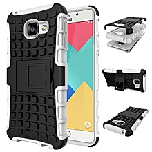 "For Galaxy [A3 2016] Case, Hard PC+Soft TPU Shockproof Tough Dual Layer Cover Shell For 4.7"" Samsung A310, White"