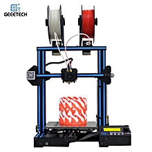 A10M 3D Printer DIY Kit Aluminum Profile Quick Assembly 220 * 220 * 260mm Support 2-In-1 Mix-Color Printing Break-Resume Capacity Filament Detector with Dual Extruder for Multiple Filament