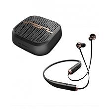 Sol Pak - Bluetooth speaker + Wireless Earphone - Black