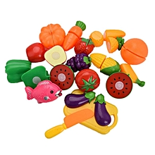 20Pcs Set Kids Children Toddler Pretend Role Play Fruit Kitchen Cutting Toys