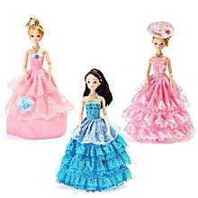 Dress Up Doll Set Gift Box Princess Wedding Dress Every Family Child Toys-A