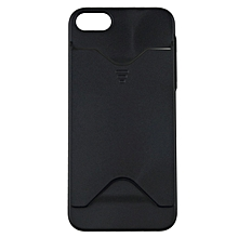 Hard Back Case Cover With ID Credit Card Slot Holder For Apple iPhone 5 5S