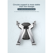 BASEUS Car Mobile phone holder Gravity reaction X Air Vent Car Mount Holder Clip type Mobile Phone Holders & Stands for iphone X (Silver) LJMALL