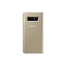 Galaxy Note 8 Clear View Stand Cover - Gold