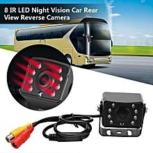 Justgogo 12V 8 IR LED Night Vision HD Waterproof Camera Car Rear View Reverse Backup Security Cam