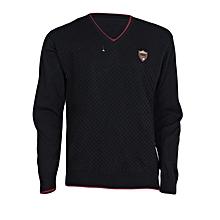 Black V- Neck Men's Sweater