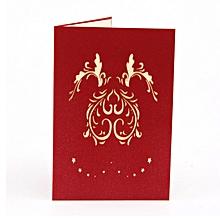 Greeting Card Three-dimensional 3D Paper-cut Custom Love Tree red