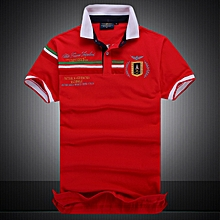 Casual brand Men's SUMMER Air Force Polo Shirt Embroidery Aeronautica Military For Men Polo Shirt-red