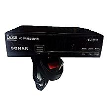Digital Decoder/Free To Air. Full HD 1080P With Usb - Black