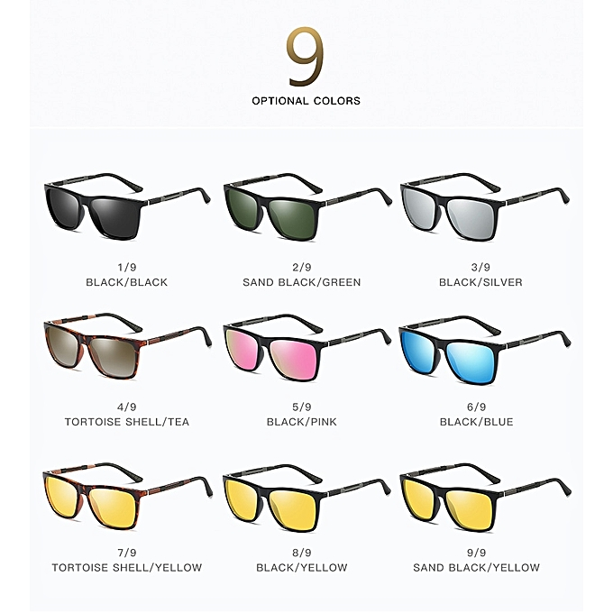 46404bff6b ... Refined Polarized Sunglasses Men Classic Women Square Glasses Aluminium  Magnesium Driving Travel Eyewear Gafas Oculos Pink ...