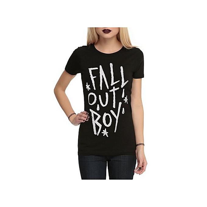 f1c615a0d0a8 Fashion Women's Cotton Funny T Shirt Fall Out Boy Logo Girls T-Shirt ...