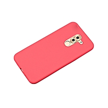 Huawei GR5 2017 Back Cover - Silicone Rubber Finish Red