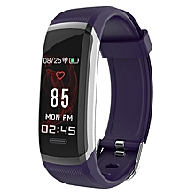 GT101 Smart Bracelet Color Screen Waterproof Blood Pressure Heart Rate Monitor purple