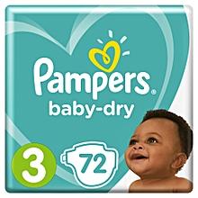 Baby Dry Midi Size 3, 72 Count