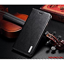huawei P9 flip cover, richboss genuine leather flip cover- black