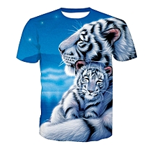 2018 Mens Funny Shirt Lovely Tiger 3D Printed T-Shirts Short Sleeve Tees