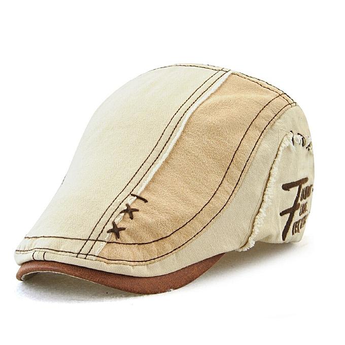 2f36f7b50 Men Women Vintage Cotton Patchwork Newsboy Cap Duckbill Visor Casual Cabbie  Beret Caps Strapback Flat Ivy Hats(beige)