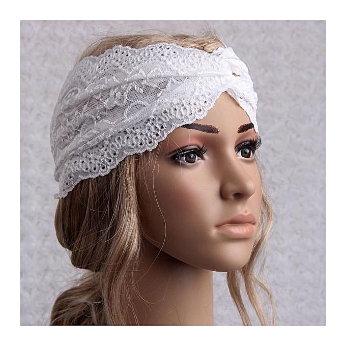 Fashion Women Headwear Twist Sport Yoga Lace Headband Turban Headscarf Wrap  ... 47ecd02d658