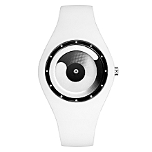 unisex Fashion Casual Quartz Watch Candy Color  Silicone Waterproof Sport Wristwatches-White White