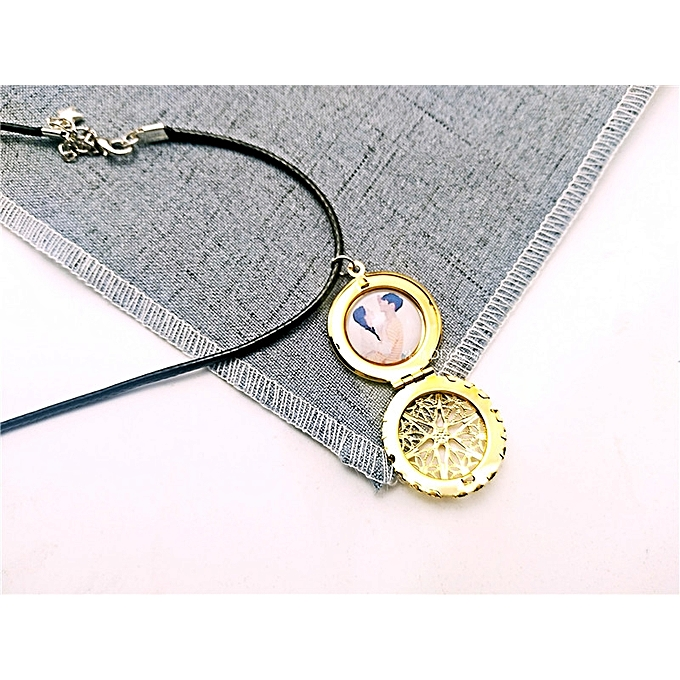 Photo Hollow Phase Box Small Fresh Necklace Couple Girlfriend Creative Birthday Gift Boyfriend