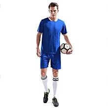 Customized Fashion Men's Football Team Training Soccer Jersey Shirts And Shorts Uniform-Blue
