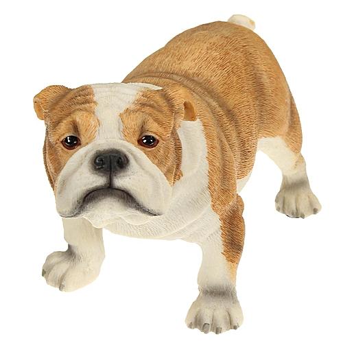 Bulldog Statue Figurine Ornament Dog Puppy Garden Sculpture 23 Cm