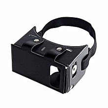 Alex NO1 Immersive 3D VR Virtual Reality Carboad Smart VR Headset for 4-5.5 inch Smartphones - Black