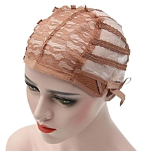 Wig Cap Making Wigs Straps Breathable Mesh Weaving Adjustable Cap 3 Styles Coffee