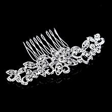 KaLaiXing Brand Bridal Hair Comb Wedding Hair Side Combs Bridal Head Pin Headpiece Crystal Pearls Flower Bride Bridesmaid