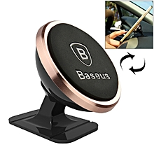360 Degree Rotatable Universal Magnetic Mount Holder with Sticker, For iPhone, Galaxy, Huawei, Xiaomi, LG, HTC and Other Smart Phones(Rose Gold)