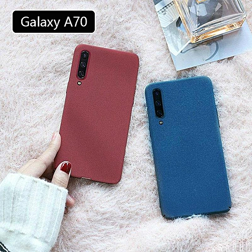 new styles be1a5 d96f7 Galaxy A70 Matte Silicone Soft TPU Cover Case For Samsung Galaxy A70 Scrub  Casing Housing Black Red Blue (Black)