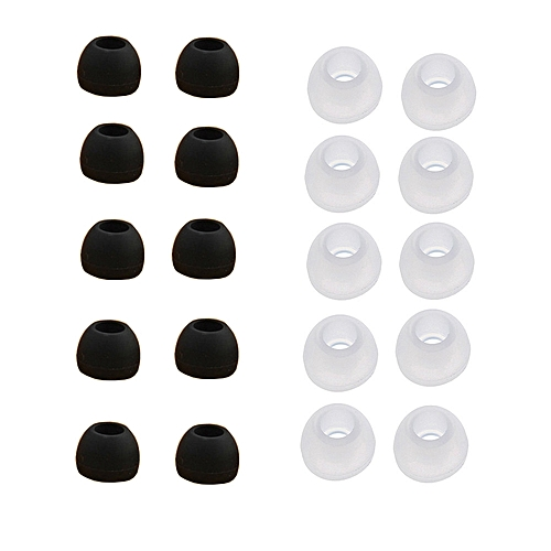 Xiuxingzi_10 Pairs Medium Size Clear Silicone Replacement Ear Buds Tips For Sony Phillips