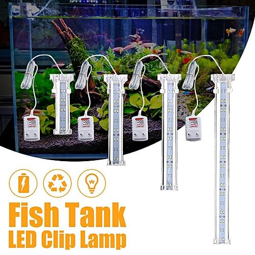 220v Aquarium 1224 Plant Clip Light Lumière Poisson Éclairage Led Lampe 45RjA3L