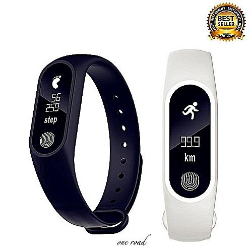 Pedometer Heart Rate Bluetooth Sport Smart Wristband Watch