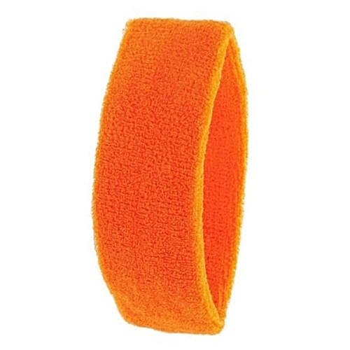 Bluelans Women Men Sport Sweat Sweatband Yoga Gym Stretch Head Hair Band  Orange 32a54369701