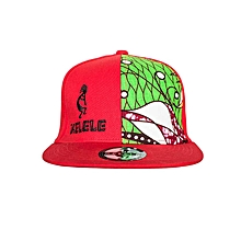 Red And Green Snapback Hat With Kelele Color On Panel
