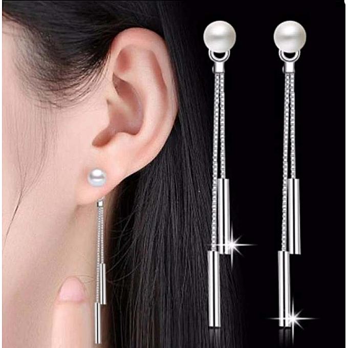 Buy Generic Great Linfang Simple Long Tassel Drop Earrings For Women
