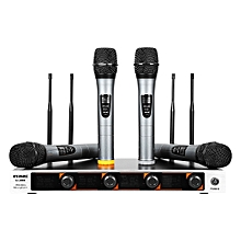 WEISRE U - 400 Professional VHF Wireless Microphone With Receiver-BLACK